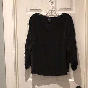 Eileen Fisher 100% silk dolman sleeve top SZ med